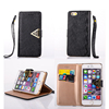 Wallet Leather Case for iPhone SE 6 6s 6Plus 6sPlus Samsung s5 s6 s6edge With Diamond Buckle Card Slot Holder Stand Flip Leather