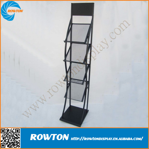 Advertisng A4 metal display rack brochure display stand