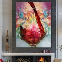 Modern art decor still life wine bottle picture 3d oil painting on canvas