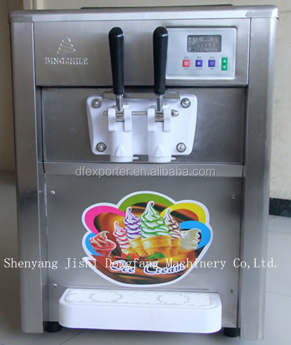 hot sale selling low price soft desktop ice cream machine