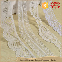New arrivals scollop floral nylon lace trimming for doll clothes