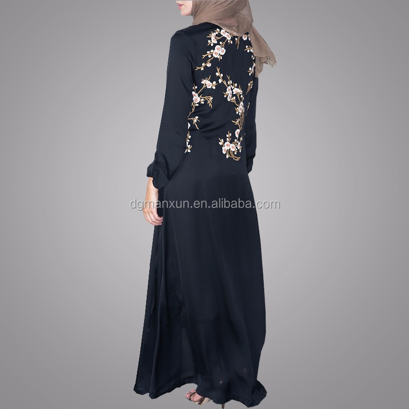Pakistani Burqa Designs Latest Fashion Cardigan Embroidered Open Abaya Black Muslim Long Clothes For Ladies (5).jpg