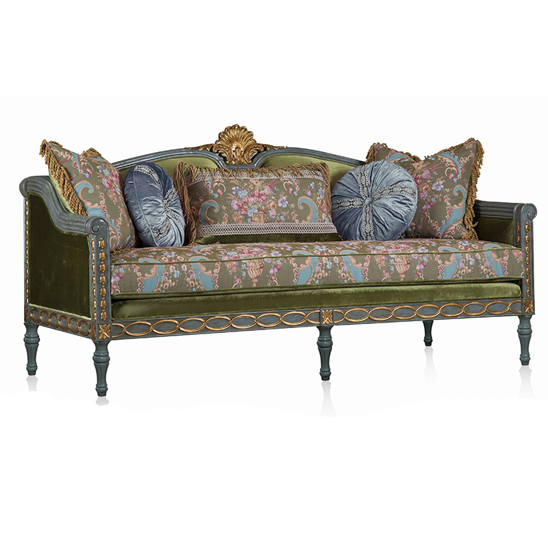 Luxury Royal Antique European Style 3 seat Sofa