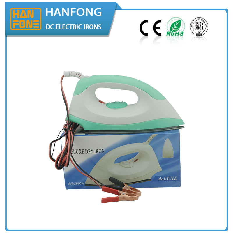 solar irons 1 years warranty China factory 150w 12V electric iron for house