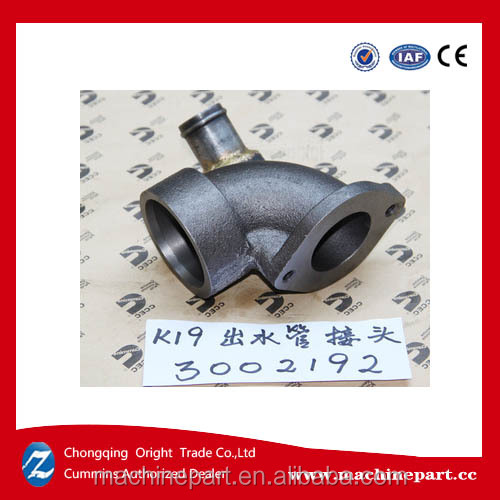 Sale original <strong>Cummins</strong> <strong>K19</strong> CCEC spare part 3002192 Water Outlet Connection