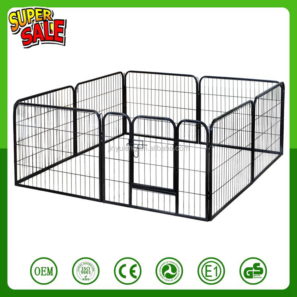 customize 8 10 16 power Heavy Duty Large Metal Pet Dog Cat Exercise Barrier Fence Cage Playpen Kennel Yard easy disassembly