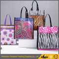 Vinyl Shiny PVC Shopping Tote Bag/PVC Exhibition Advertising Shopping Bag