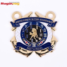 Cheap zinc alloy 3d customized gold silver bronze plated challenge coin
