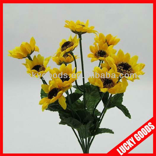 sunflower bushes/ cheap silk flower bushes