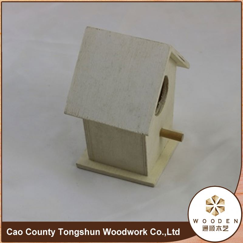 Elaborate Small Wood Crafts Bird House Decorative