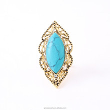 Fashion Boho Jewelry Turquoise Stone Finger Ring
