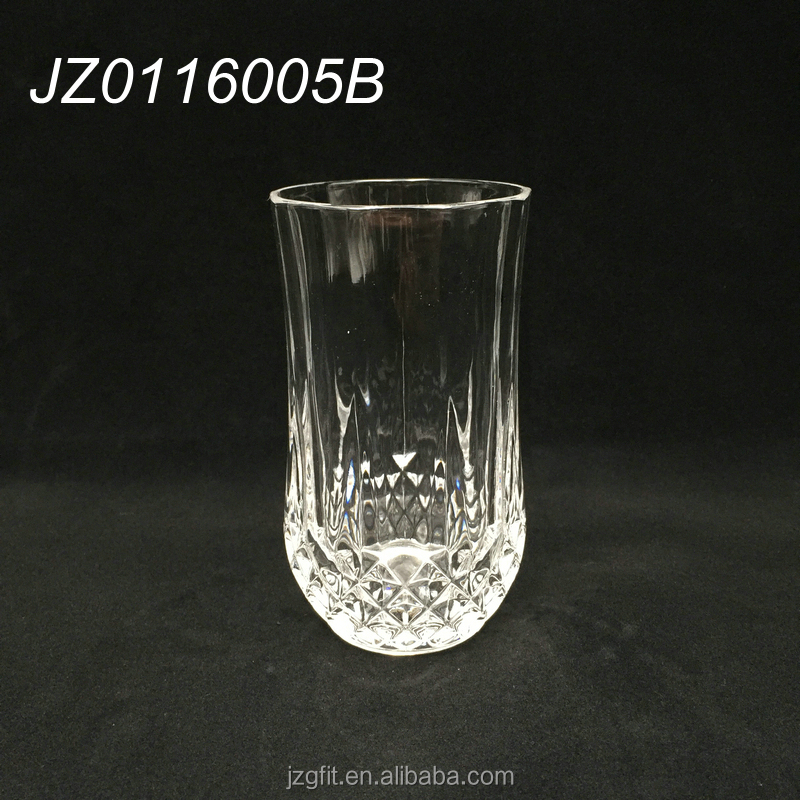 Hot sale elegant 220ml glass drinking tumbler, glass cup, drinking glassware for home&restaurant