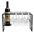 clear black white acrylic hanging wine glass rack for sale