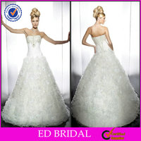 EDW231 Fluffy Princess Style Strapless Crystal Diamond Brazilian Wedding Dresses
