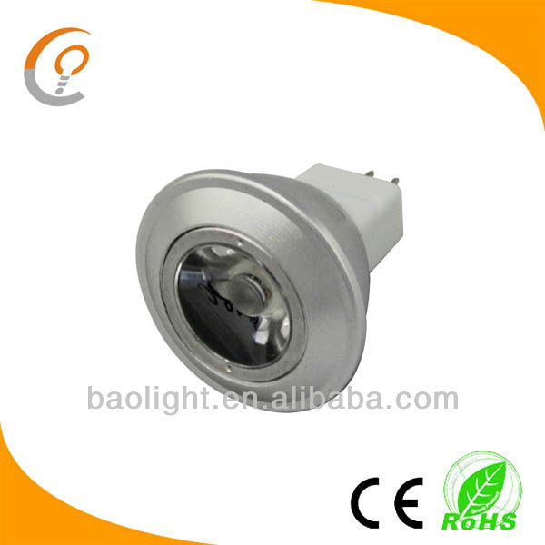 Wholeasle alibaba dimmable 1watt 12v led spotlight bulb mr11