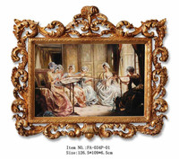 FA-034G-01 Ornate hand-painted oil paintings for decor