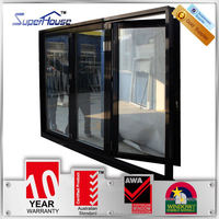Sundproof foldable double glass door manufacturer