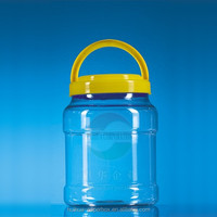 Transparent plastic jerry can