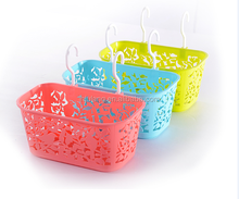 Flower type extrudable PP multifunctional plastic storage basket ,High quality portable hanging basket
