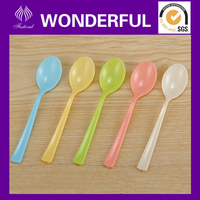Plastic colored mini taste spoon
