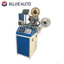 automatic flat cutting and labeling machine for garment tag