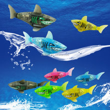 Electric swimming Electronic fish pet luminescence Sharks swim fishing noctilucent toys baby bath toys