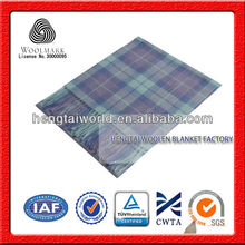 No.1 China Blanket Factory 100% Merino wool scarf, plaid wool scarf