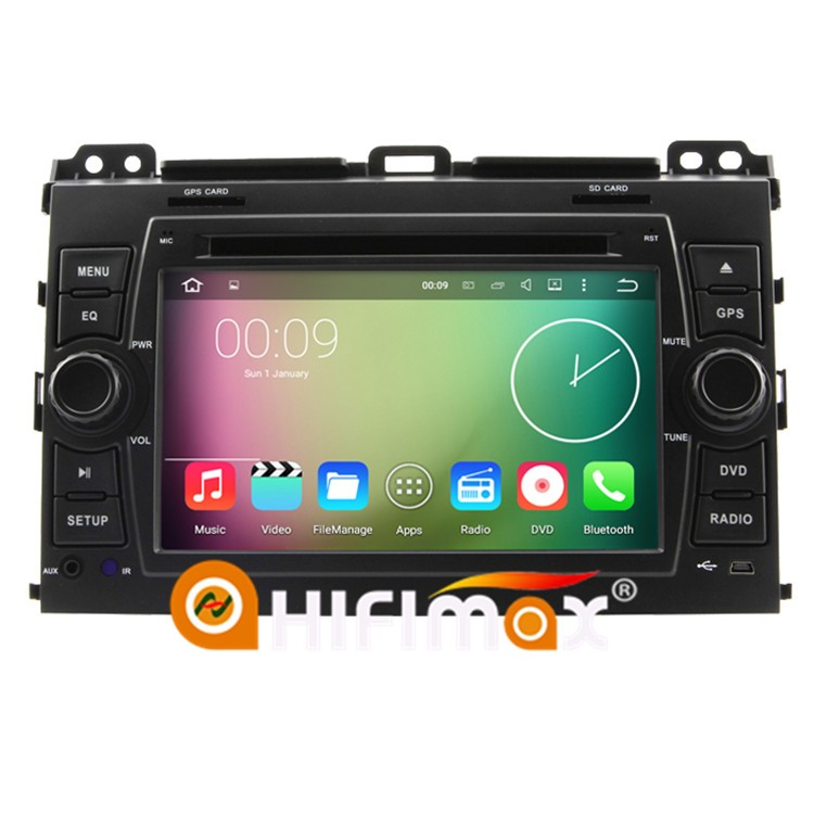 HIFIMAX Android 7.1 Car DVD GPS Navigation For Toyota Prado Cruiser 120 (2003-2009 ) Dashboard Steering Wheel Support JBL System