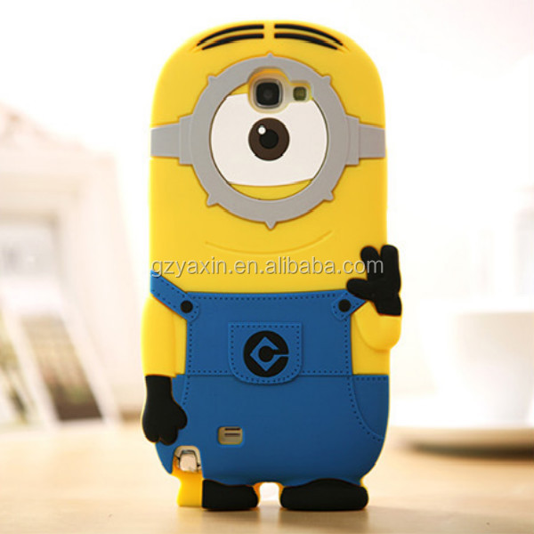 For galaxy note3 case despicable me 2 minions,funny case for samsung galaxy note3 minions case