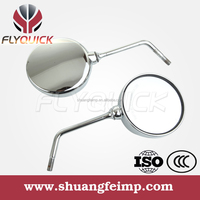 ZF001-22 FLYQUICK chrome motorcycle side mirror for BAJAJ BOXER