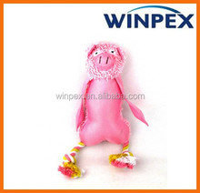 Animal squeaky pig oxford stuffed plush dog toy