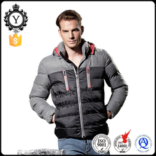 COUTUDI Wholesale Fashion Black Winter Warm Reversible Men Coat With Two Side Pockets