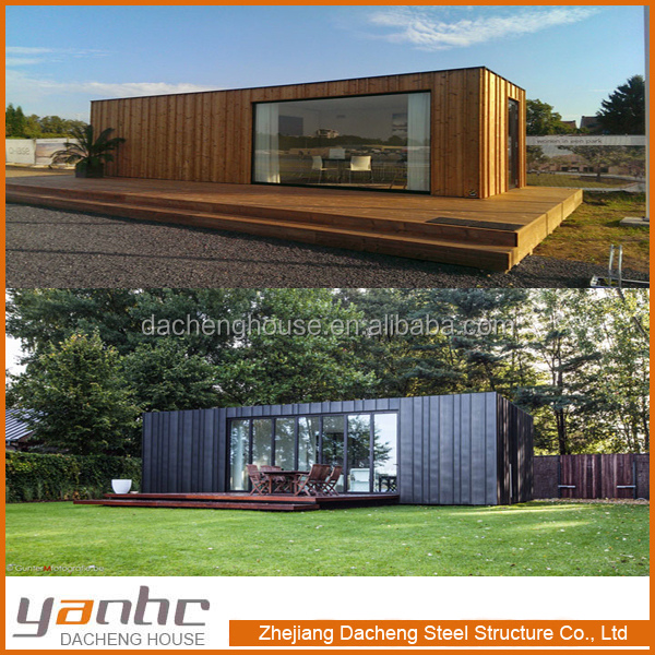 Fast prefabricated lovely small cabin container house villa