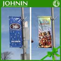 Display 110gsm Polyester Outdoor Waterproof Advertising Street Pole Flag