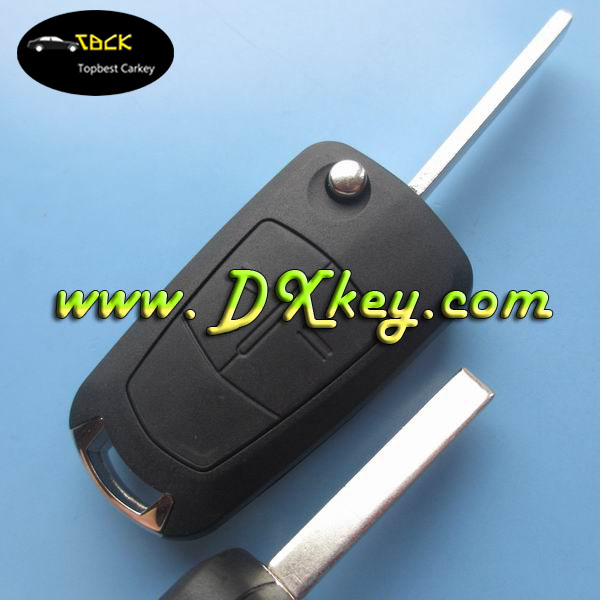2 buttons remote control car cover for Opel Vectra key Opel key cover with HU100 blade