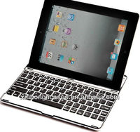 For ipad4 alum ultrathin Bluetooth Keyboard;for ipad mini Wireless Keyboard
