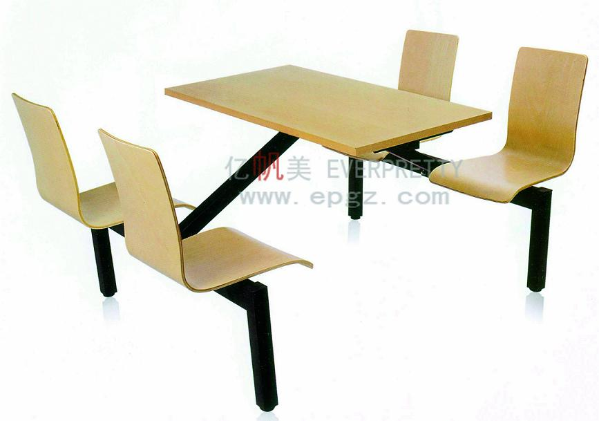Restaurant furniture wooden dining table and chairs set for Ensemble cuisine table chaises