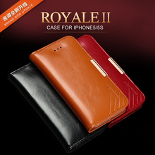 Kalaideng Royale-2 Genuine real Leather case for iPhone 5 Mobile Phone accessories