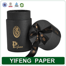 Chinamanufacture black knit paper tube box for tea,herb