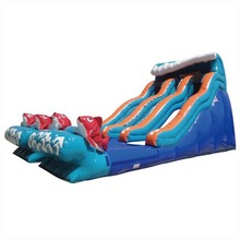 pvc tarpaulin 19ft Double Lane Big Kahuna inflatable water slide/ waterslide for adult and kids
