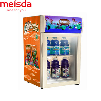 52L customized sticker commercial drink cooler with compressor