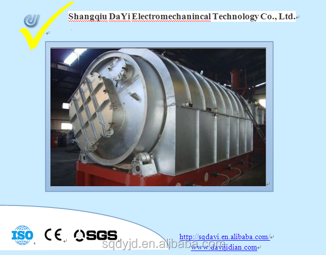 100% security! - waste tire rubber plastic cracking waste refining equipment