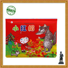 high quality pop up fair tale book printing Little Red Riding Hood / high quality pop up book printing/4C pop up book printing