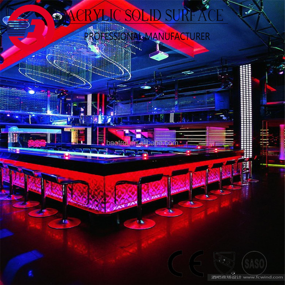 Hot selling commercial bar counter design nigh club bar counter club long bar counter