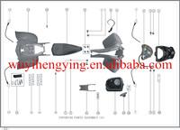 bashan atv 250cc BS250S-11B plastic body cover atv spare parts