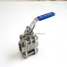 Pipeline used BSP / NPT thread pn63 working pressure manual handle stainless steel pipeline ball valve