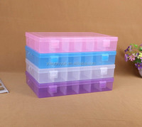 27.3*18.4*4.3cm slots Transparent Plastic DIY Tool Organizer Jewelry Bin Storage Box with dividers