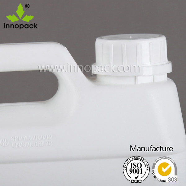 2.5L square HDPE Blowing molding plastic pail for cooking oil