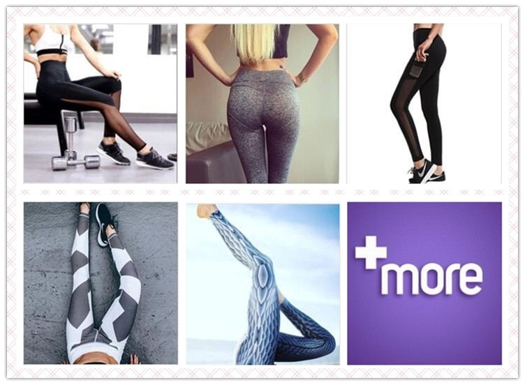 Explosive women's new hit color stitching Slim Yoga fitness exercise leggings
