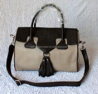 Wholesale Leather bags women leather satchel private label bag tassel fringer bag
